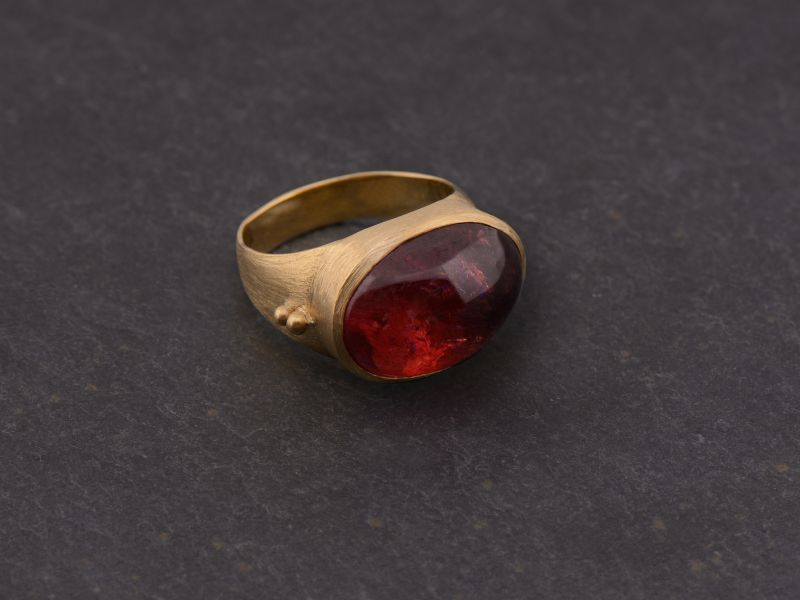 Bague Fédora or jaune tourmaline rose 12,35cts