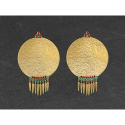 BO India Song franges turquoise - spinelle vermeil