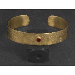 Bracelet Double Diane vermeil martelé + pierre