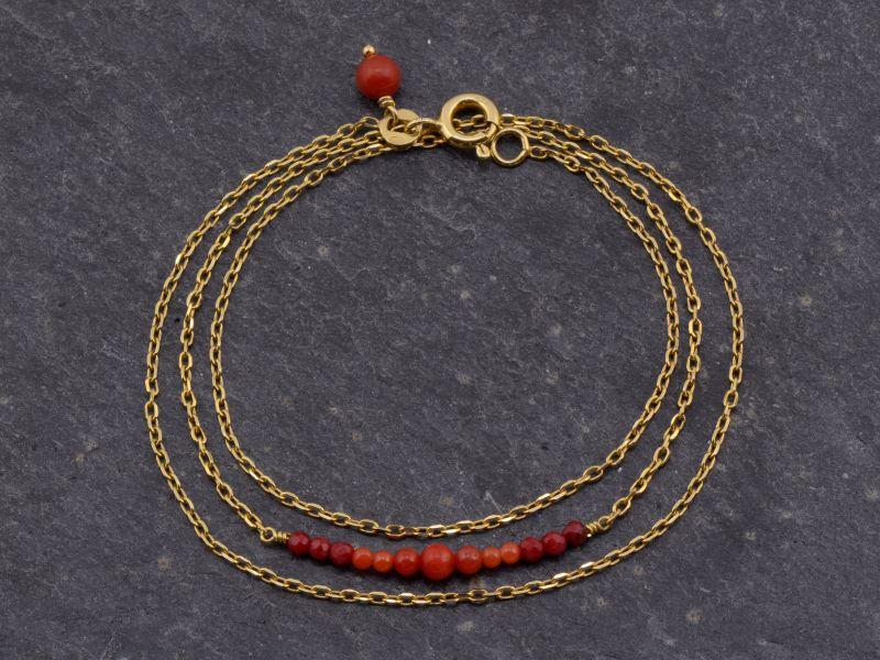 Bracelet Gipsy triple vermeil