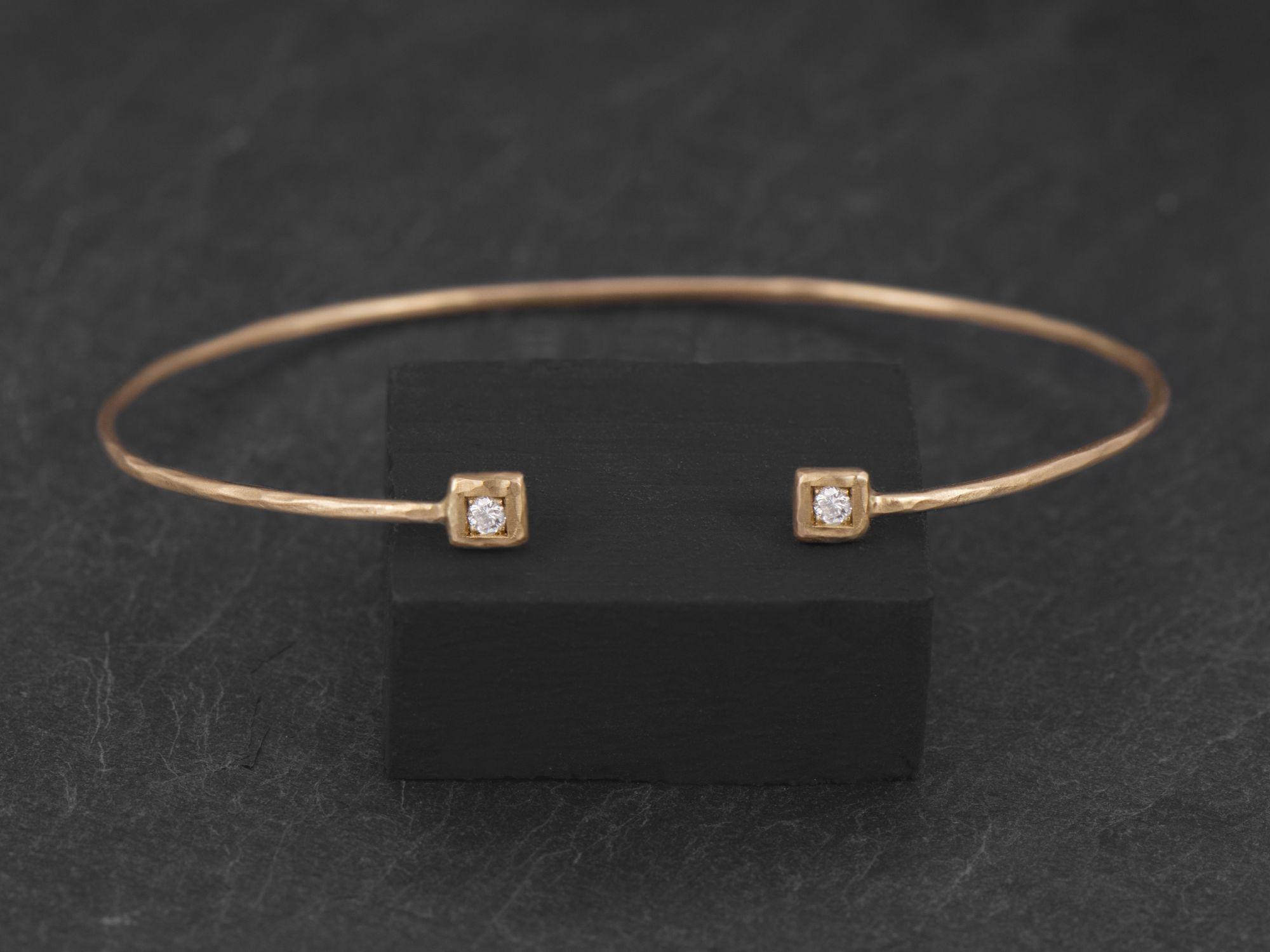 Bracelet Hélium or jaune diamants blancs