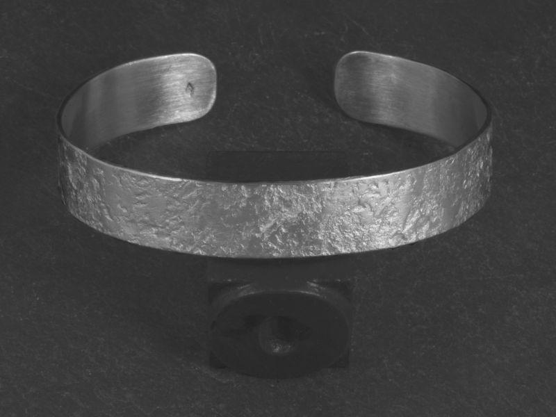 Bracelet Double Ulysse argent rhodié martelé HOMME