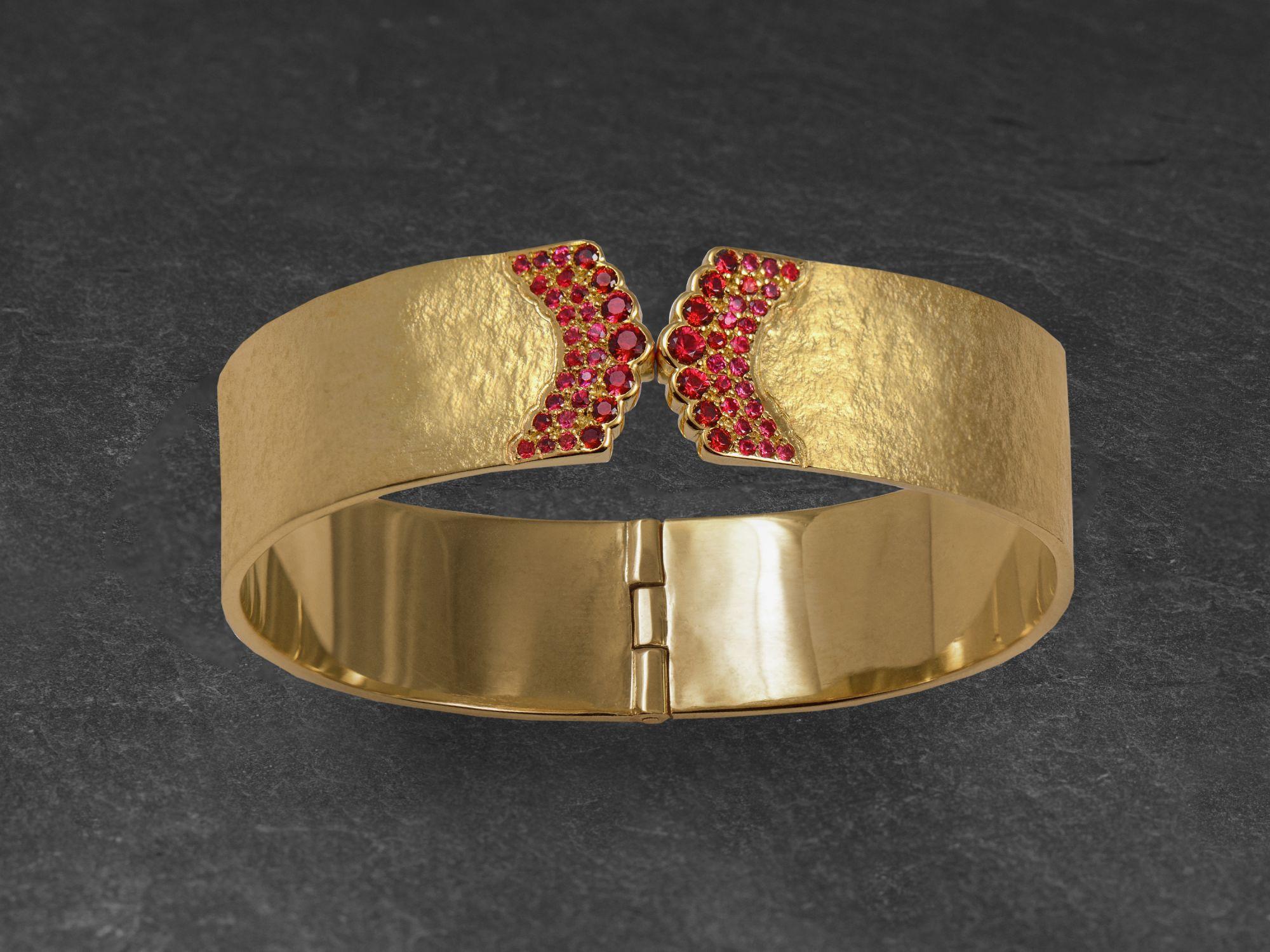 Bracelet India Song or jaune par Emmanuelle Zysman