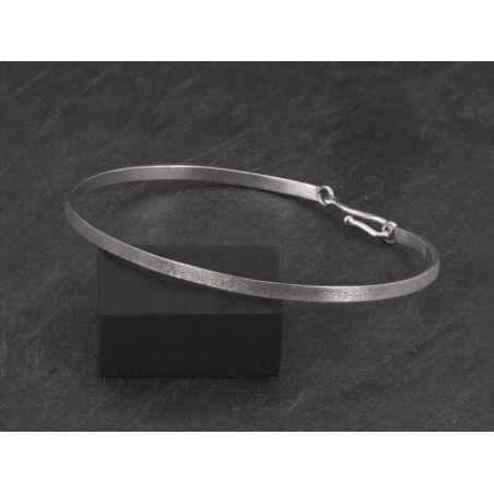 Bracelet Nude carré argent rhodié brossé homme par Emmanuelle Zysman