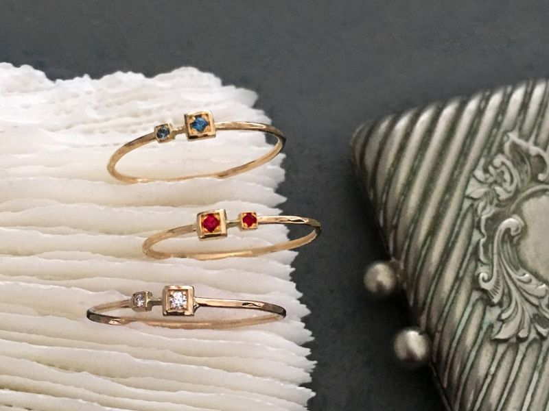 Andromede gold rings