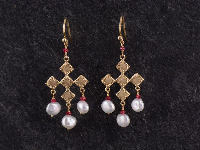 Sitia vermeil perls earrings
