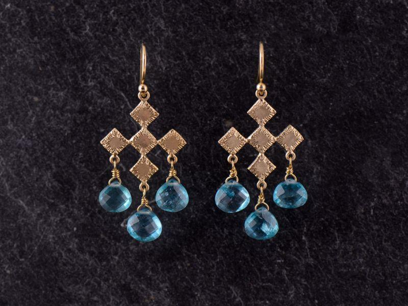 Sitia vermeil apatite earrings