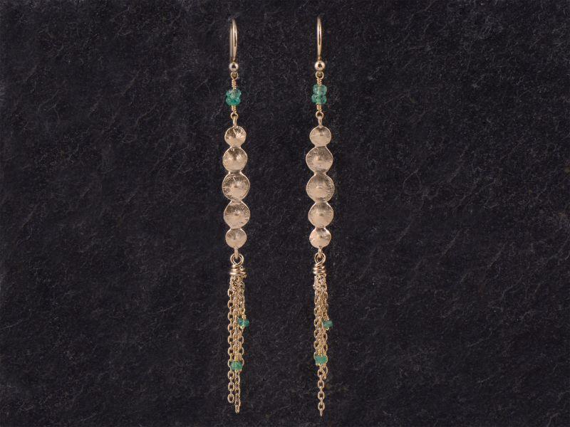 Seeds vermeil Pompon earrings