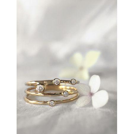 Bague Cassiopée or jaune diamant par Emmanuelle Zysman