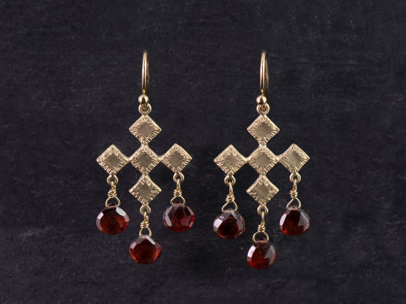 Sitia vermeil garnet earrings
