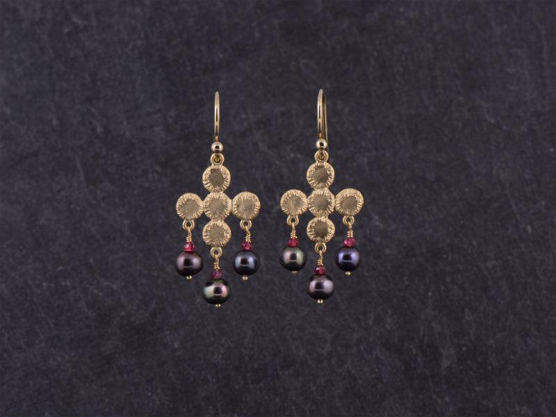 BO Ithaque vermeil perles de cultures noires par Emmanuelle Zysman