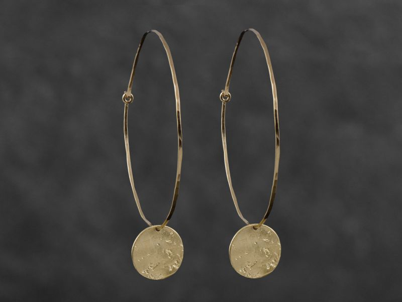 Celeste vermeil large earrings