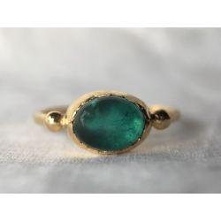 Brunehilde vermeil green tourmaline rings by Emmanuelle Zysman