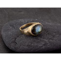 BB Fedora vermeil labradorite ring by Emmanuelle Zysman