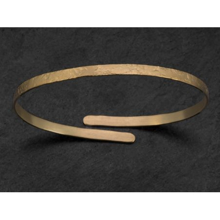 Bracelet Diane vermeil martelé par Emmanuelle Zysman