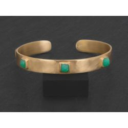 FRIDA vermeil chrysoprase bracelet by Emmanuelle Zysman