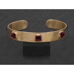 Frida vermeil garnet bracelet by Emmanuelle Zysman