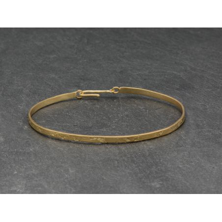 Nude squared vermeil bracelet by Emmaneulle Zysman