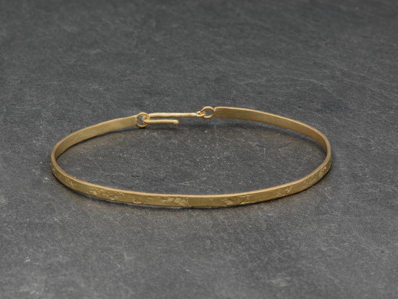 Bracelet Nude carré vermeil par Emmanuelle Zysman