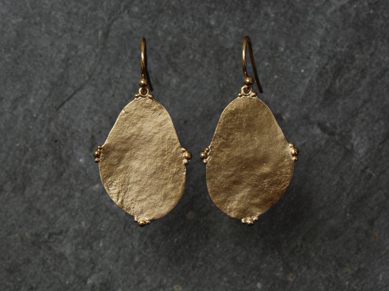 Bao Vermeil Earrings MM by Emmanuelle Zysman