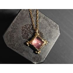 Enigma vermeil and pink tourmaline necklace by Emmanuelle Zysman