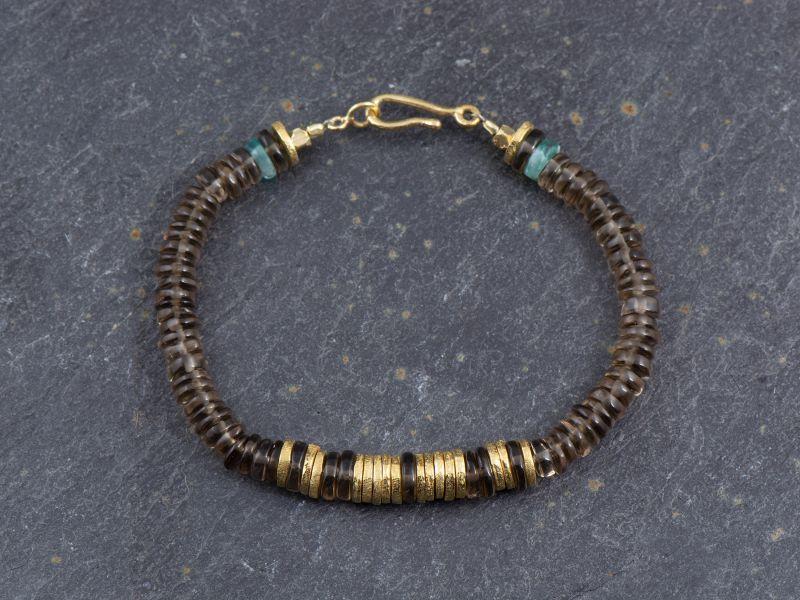Smoked quartz Bahia bracelets by Emmanuelle Zysman
