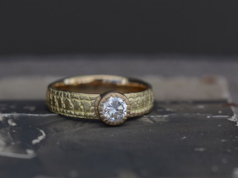 Yellow Gold Diamond Ring by Emmanuelle Zysman