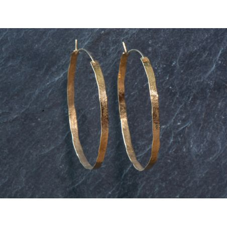 Large wide Shan hoop earrings by Emmanuelle Zysman