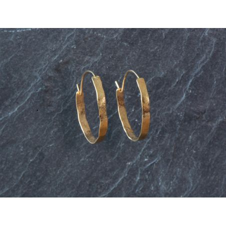 Small wide Shan hoop earrings by Emmanuelle Zysman