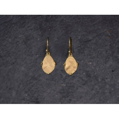 Bao Vermeil Earrings SM by Emmanuelle Zysman