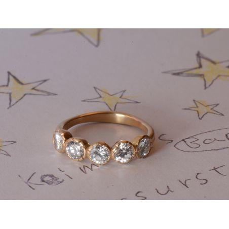 Bague Or Jaune et Diamants par Emmanuelle Zysman