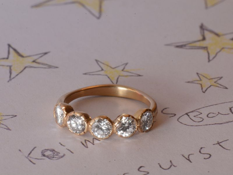 Bague Or Jaune et Diamants