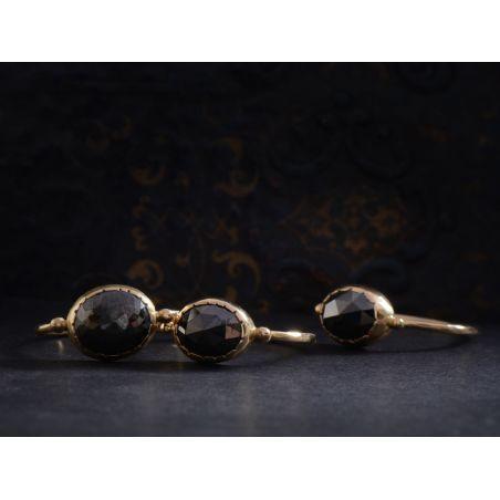 Bagues Black Solitaire or jaune diamant noir par Emmanuelle Zysman