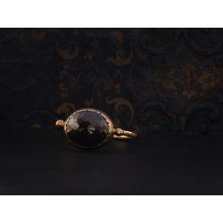 Black Solitaire or jaune diamant noir 1,99cts par Emmanuelle Zysman