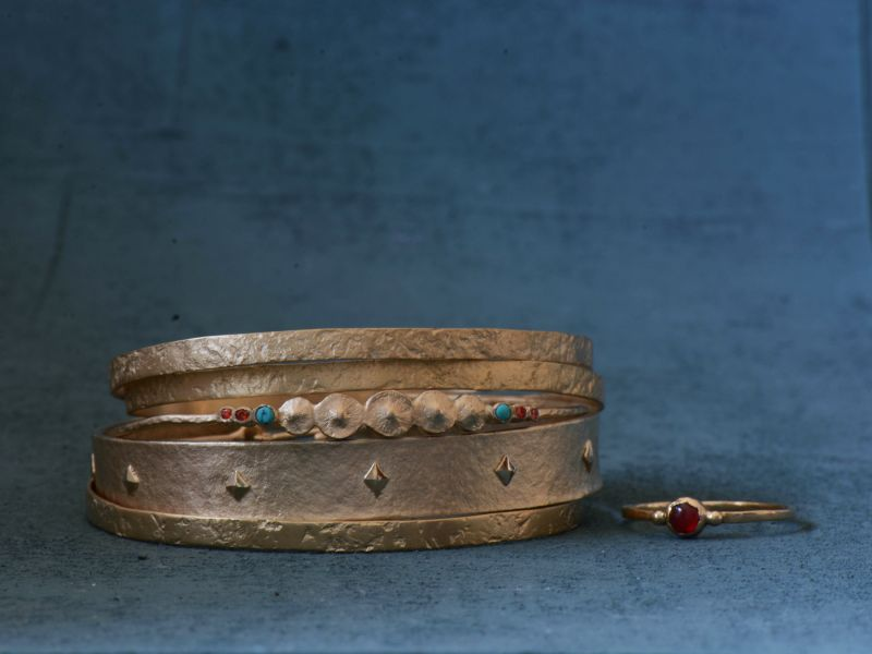 Bracelet's vermeil re-dip