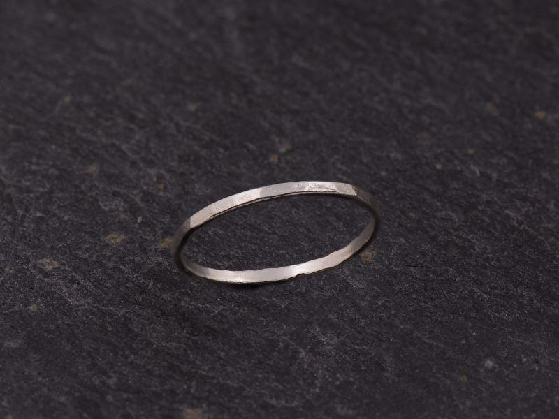 Mon Cheri silver thin ring by Emmanuelle Zysman