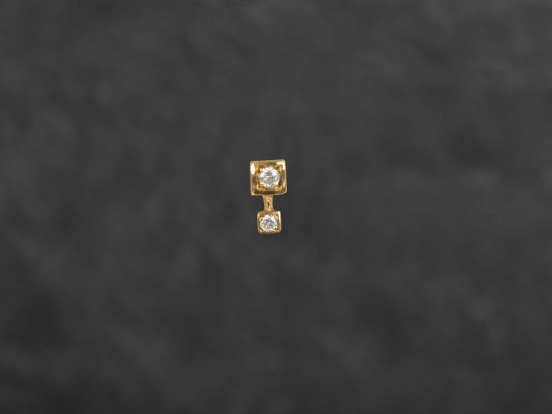 Andromede gold stud earring