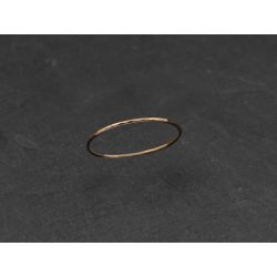 Mon Cheri yellow gold thin ring by Emmanuelle Zysman