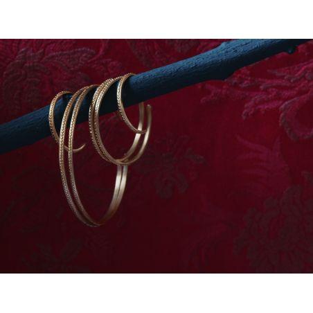 Isolde vermeil hoop earrings by Emmanuelle Zysman