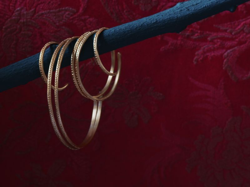 Isolde vermeil hoop earrings by Emmanuelle Zysman