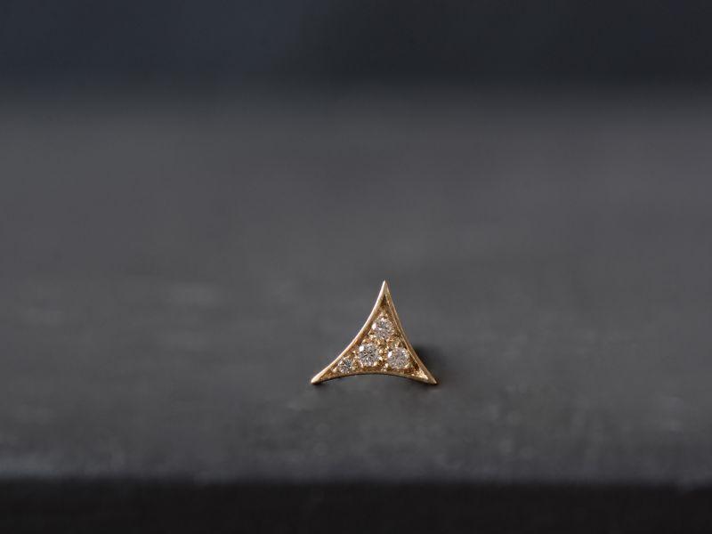 Puce Bermudes vermeil diamants miel par Emmanuelle Zysman