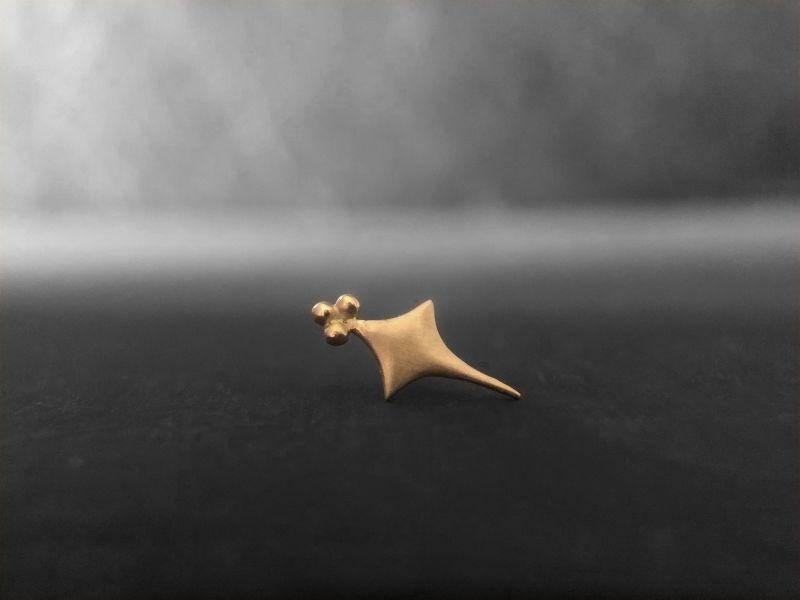 Sword stud earring by Emmanuelle Zysman