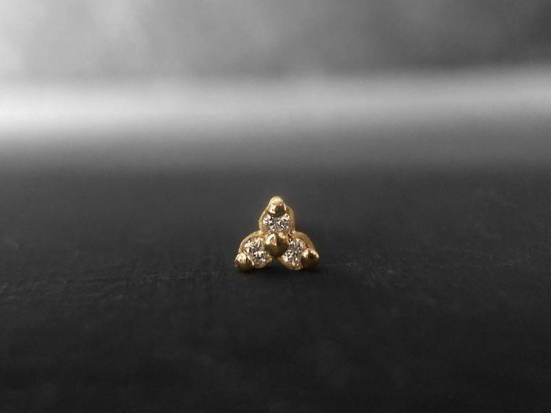Puce Clover vermeil et diamants miel par Emmanuelle Zysman