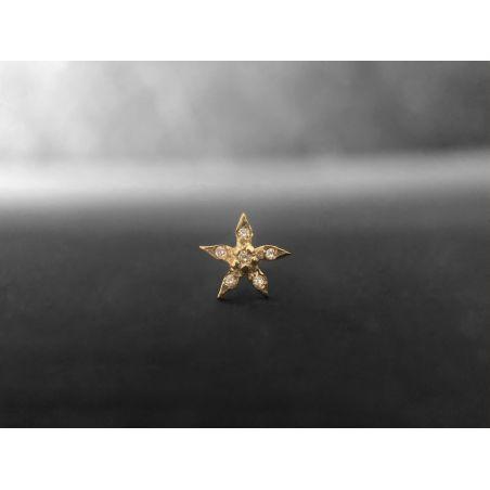 Edelweiss vermeil and honey diamonds stud earring by Emmanuelle Zysman
