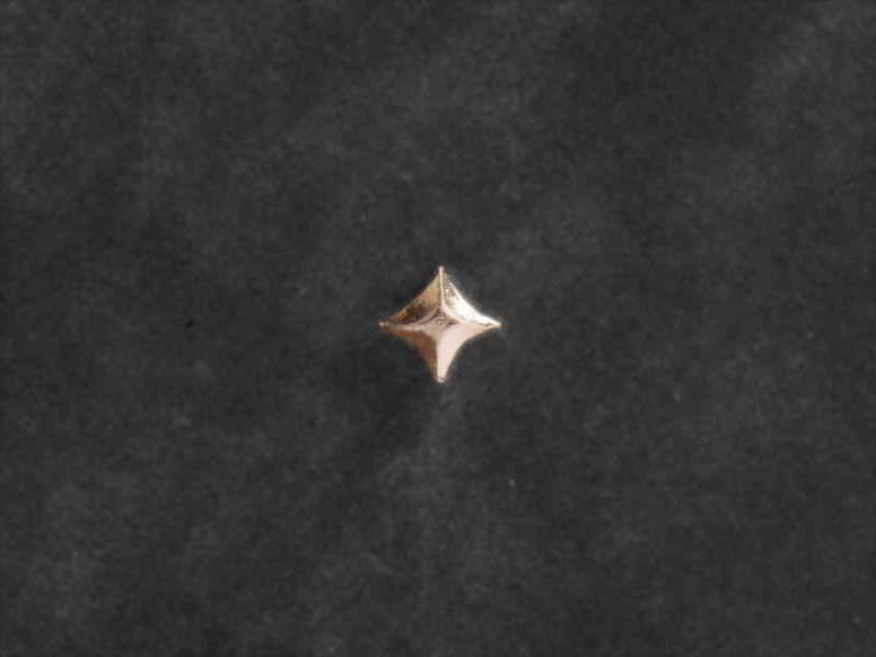 Mini-puce étoile vermeil par Emmanuelle Zysman