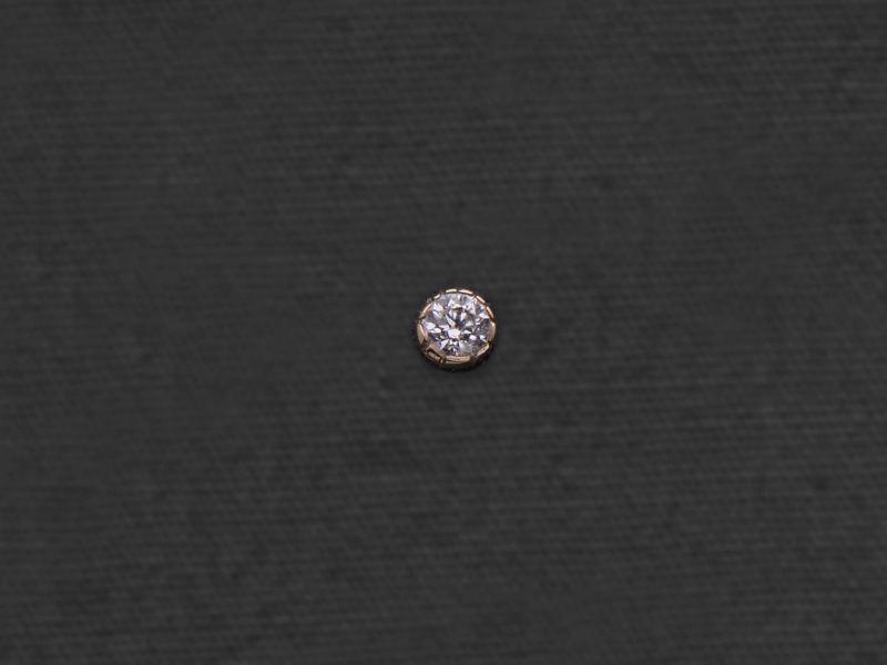 Puce diamant or jaune par Emmanuelle Zysman