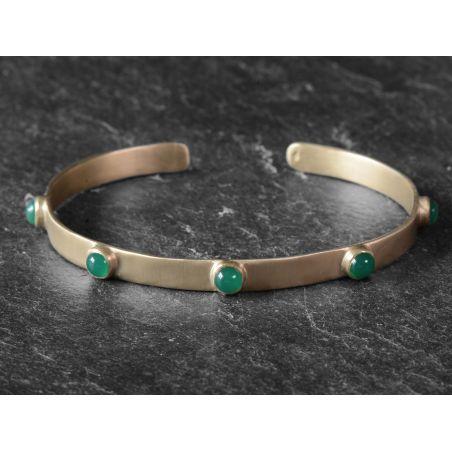 Bracelet BB FRIDA vermeil agate verte par Emmanuelle