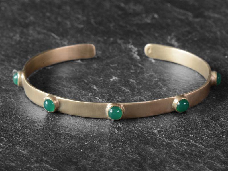 BB Frida green agate vermeil bracelet