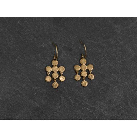 Ithaque vermeil earrings by Emmanuelle Zysman