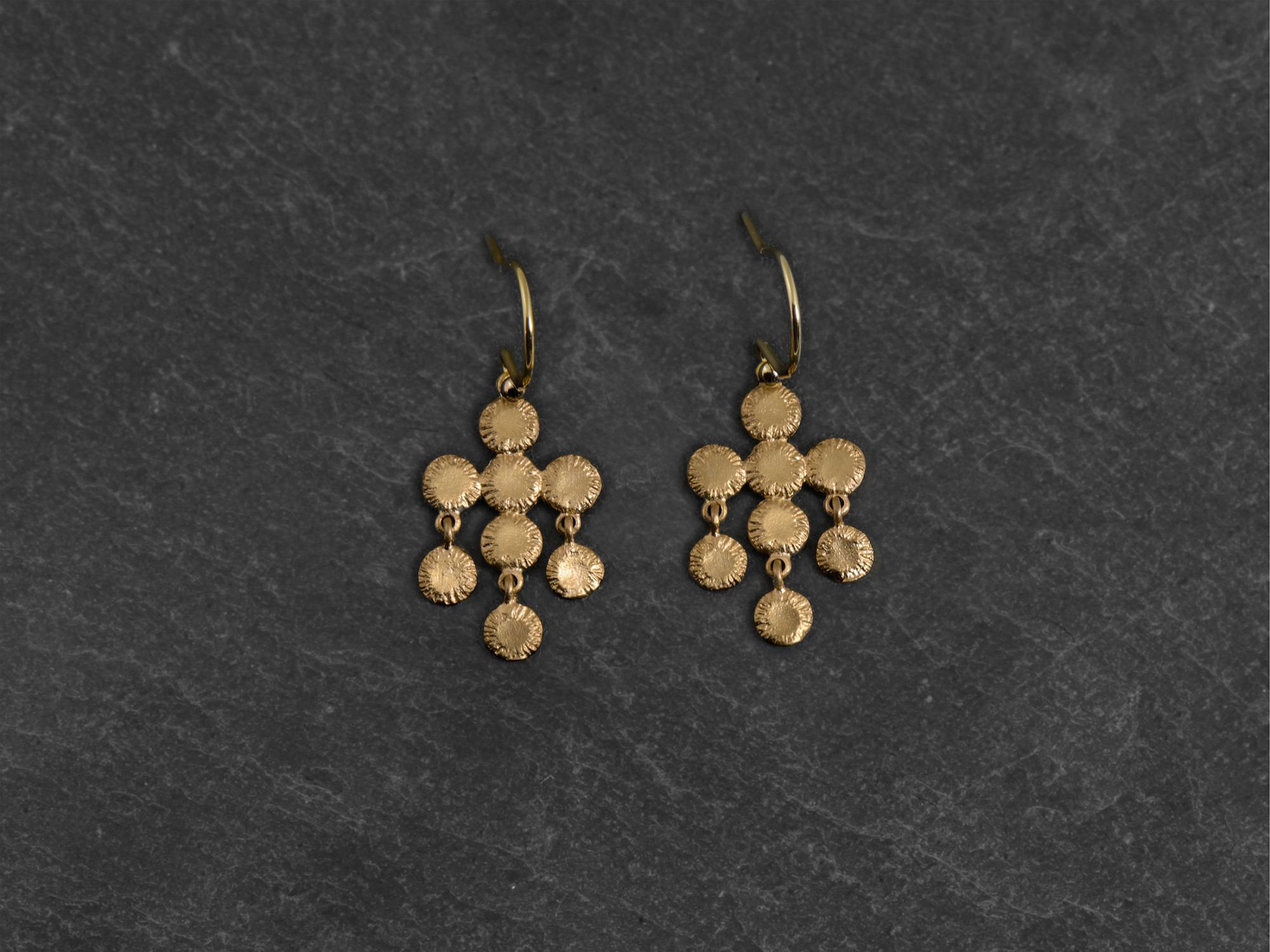 Ithaque vermeil earrings by Emmanuelle Zysman
